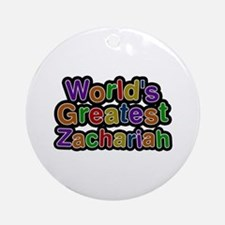 World's Greatest Zachariah Round Ornament