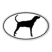Plott Hound SILHOUETTE Oval Bumper Stickers