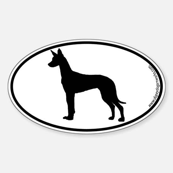 Pharaoh SILHOUETTE Oval Decal