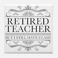 Cute Teacher retired Tile Coaster