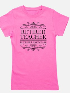 Cute Funny teacher retirement Girl's Tee