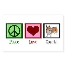 Peace Love Corgis Decal