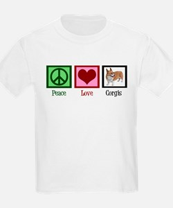 Peace Love Corgis T-Shirt