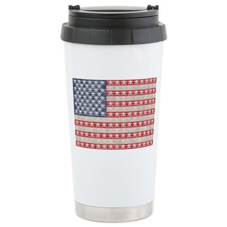 American Pirate Flag Stainless Steel Travel Mug