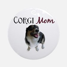 Corgi Mom Ornament (Round)