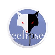 """Eclipse Violet Moon by Twibaby 3.5"""" Button"""
