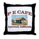 P E Cafe Throw Pillow