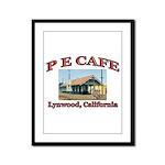 P E Cafe Framed Panel Print