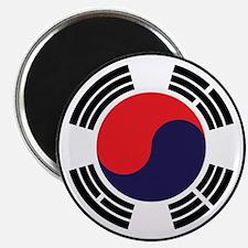 Korean Flag Circular Magnets