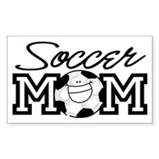 Soccer Mom Smiley Rectangle Decal