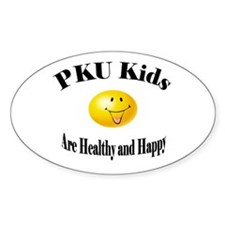 PKU Kids Are Healthy and Happ Oval Decal