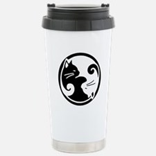 Yin Yang Cats: Stainless Steel Travel Mug