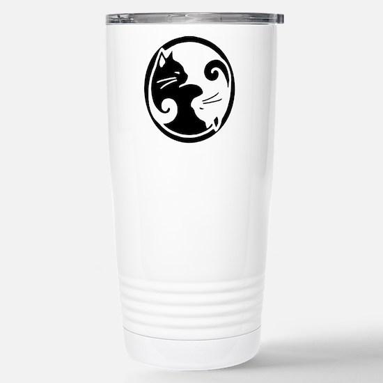 Yin Yang Cats: Stainless Steel Travel Mug