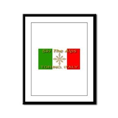Ski The Alps Torino Italy Framed Panel Print