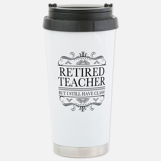 Funny Retired Tea Travel Mug