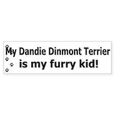 Dandie Dinmont Furry Kid Bumper Bumper Sticker
