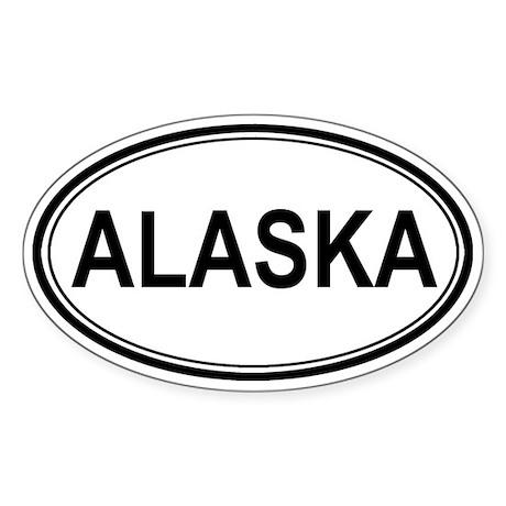 Euro Alaska Oval Sticker