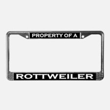 Property of Rottweiler License Plate Frame