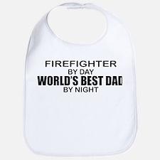 World's Best Dad - Firefighter Bib