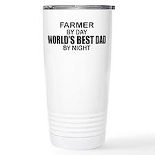 World's Best Dad - Farmer Travel Mug