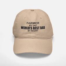World's Best Dad - Farmer Baseball Baseball Cap