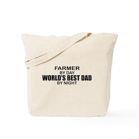 World's Best Dad - Farmer Tote Bag