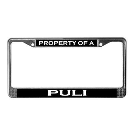 Property of Puli License Plate Frame