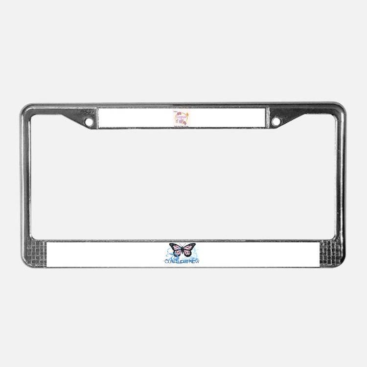 Cute Krystal License Plate Frame