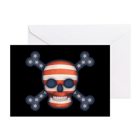 Pirate Patriot Greeting Cards (Pk of 10)