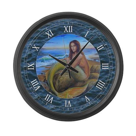 Mermaid Large Wall Clock