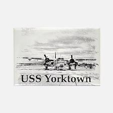 USS Yorktown Rectangle Magnet