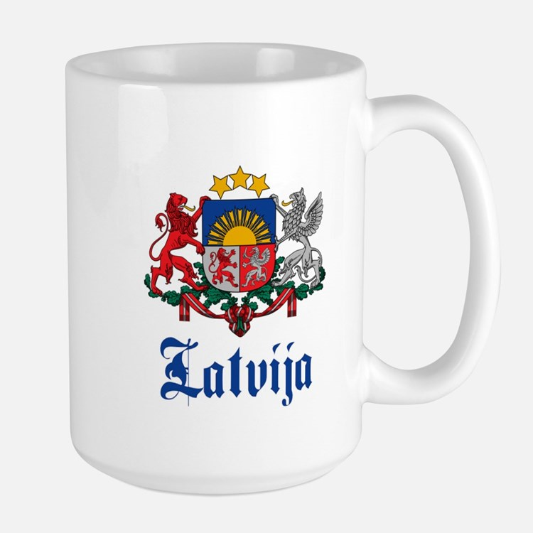 Latvia Large Mug