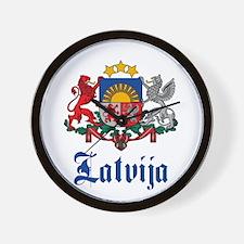 Latvia Wall Clock