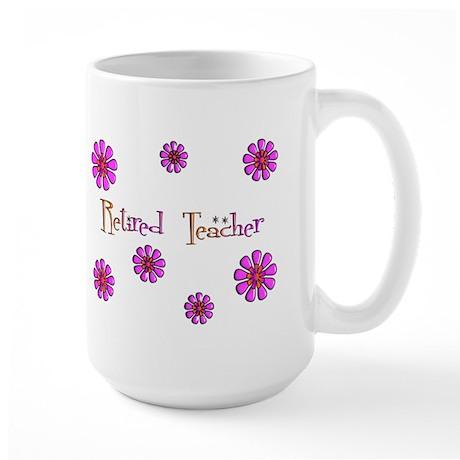 Retired Teacher II Large Mug