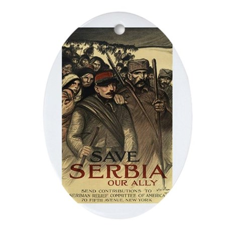 Save Serbia, Our Ally Ornament (Oval)