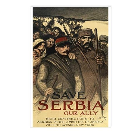 Save Serbia, Our Ally Postcards (Package of 8)