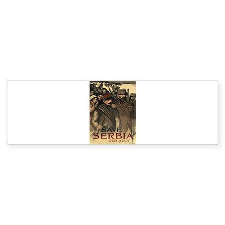 Save Serbia, Our Ally Sticker (Bumper)