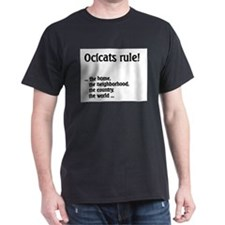 Ocicat Black T-Shirt