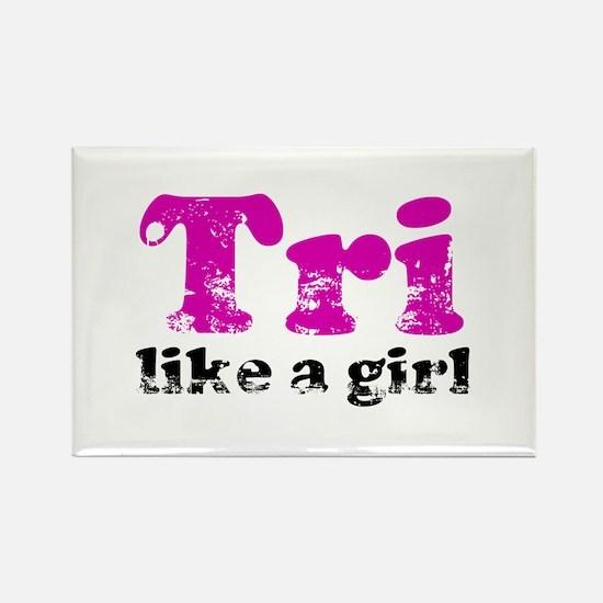 tri_likeagirl_sticker Magnets