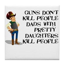 Dads and Daughters Father's D Tile Coaster