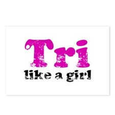 Tri Like a Girl Postcards (Package of 8)