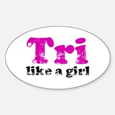 Tri Like a Girl Decal