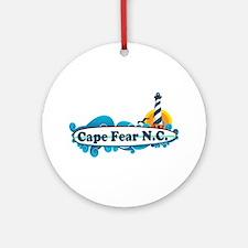 Cape Fear NC - Lighthouse Design Ornament (Round)
