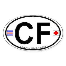 Cape Fear NC - Oval Design Decal
