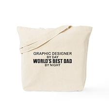 World's Best Dad - Graphic Designer Tote Bag