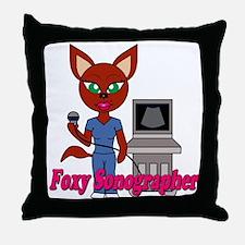 """Foxy Sonographer"" Throw Pillow"