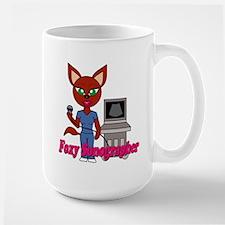 """Foxy Sonographer"" Large Mug"