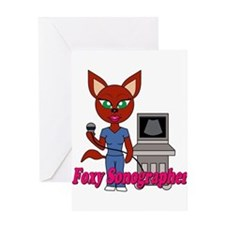 """Foxy Sonographer"" Greeting Card"