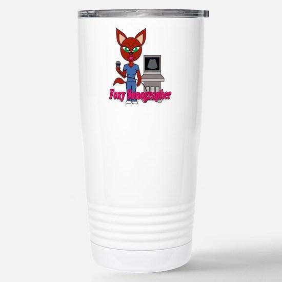 """Foxy Sonographer"" Stainless Steel Travel Mug"