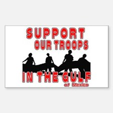 Support Our Troops in the Gul Sticker (Rectangle)
